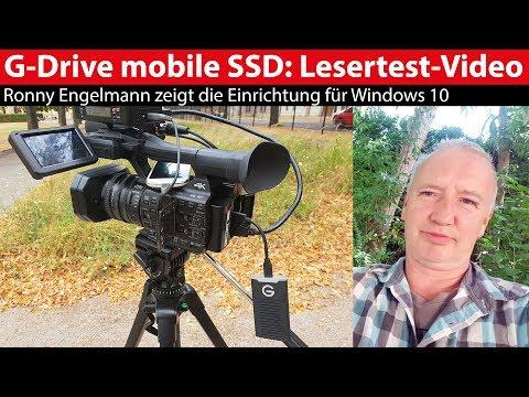 G-Technology G-Drive mobile SSD: Einrichten für Windows 10 - Lesertest-Video