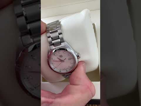 Ladies Tag Heuer Mother Pearl Diamond - Win Rev Comps