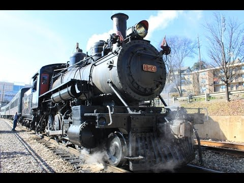 Steam Locomotive hauled Train, Knoxville, Tennessee