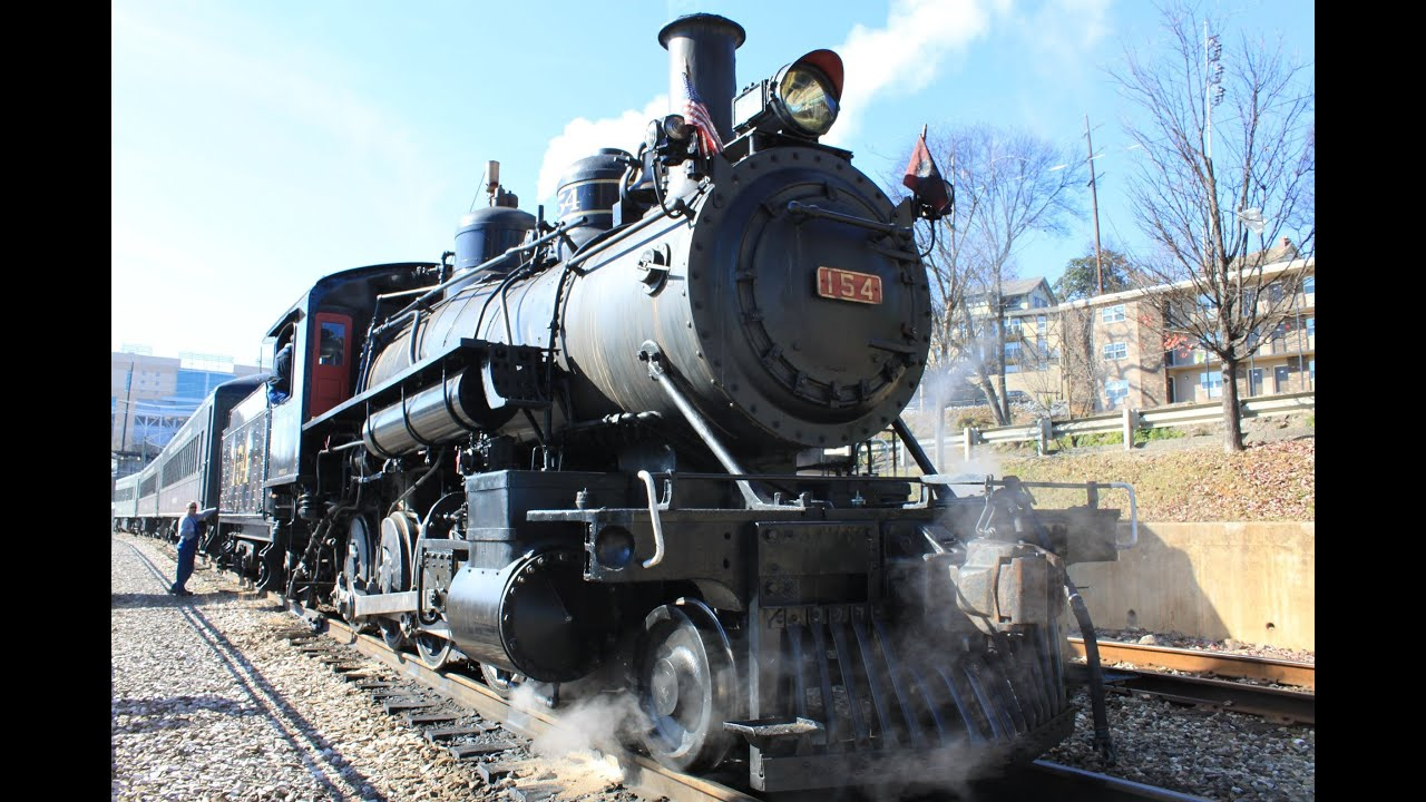 Steam Locomotive hauled Train, Knoxville, Tennessee - YouTube