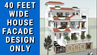 40 X 80 Feet House Design in Gomti Nagar Lucknow
