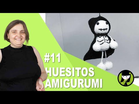 AMIGURUMI PARA HALLOWEEN ESQUELETO O CALAQUITA 11 ultimo video
