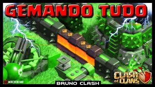 GEMANDO TUDO no UPDATE do Clash of Clans - Bruno Clash