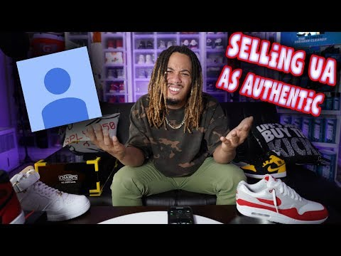 YOUTUBER SELLING UNAUTHORIZED SNEAKERS AS AUTHENTIC !!! UNAUTHORIZED VS AUTHORIZED !