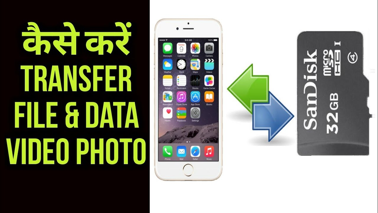 How to Transfer files & Data between SD Card to Phone ...