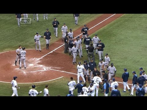 Benches clear after Yanks retaliate after HBP