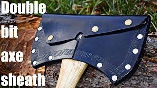 Travail du cuir - fait un Double Bits Axe de la Gaine