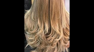 قص الشعر مدرج قصيرعلى زاوية90 درجةshort Layrs Haircut Youtube