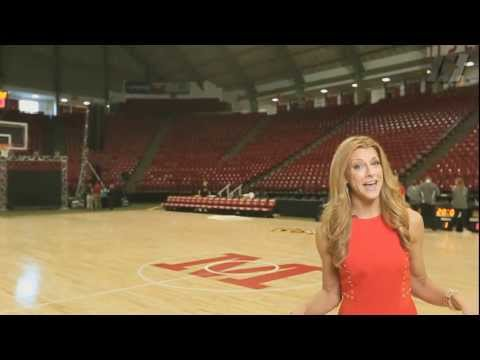 Bonnie Bernstein at Cole Field House for Maryland Madness