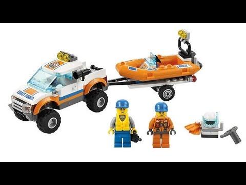 le 4x4 et le bateau de plonge 60012 de lego city