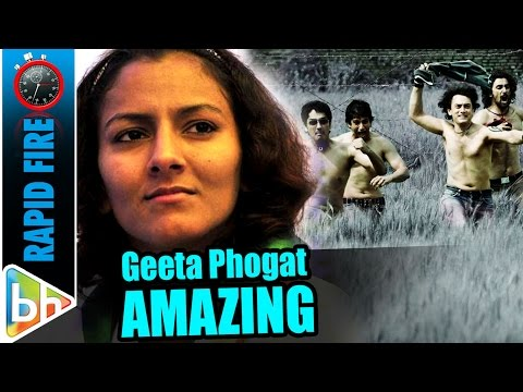 Geeta Phogat's AMAZING Rapid fire On...