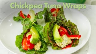 Chickpea Tuna Wraps