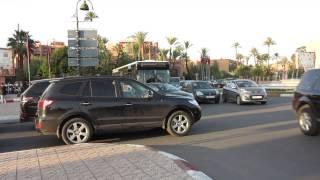 Marrakech crazy traffic Marrakesh