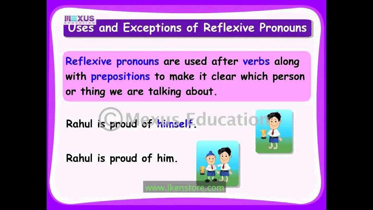 Workbooks reflexive pronoun worksheets for 2nd grade : Reflexive Pronouns - YouTube