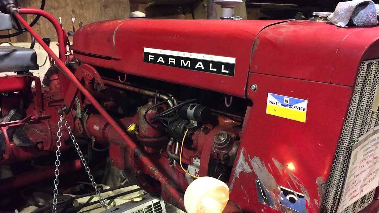 1966 farmall 140 tractor with l59 woods mower