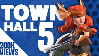 Clash Of Clans - Town Hall 5 (COC Th5) Trophy Base - Anti 2 Stars Best Defense Base 2017