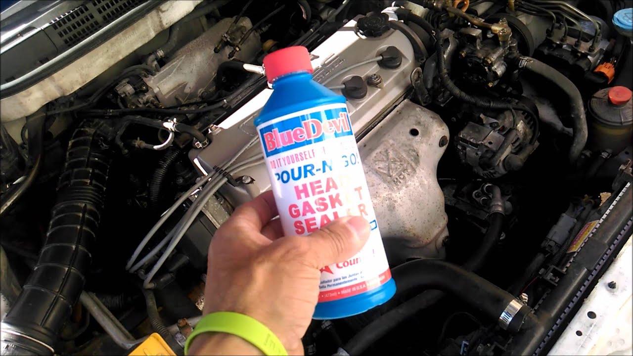 HOW TO FIX HEAD GASKET BLUE DEVIL HEAD GASKET REPAIR