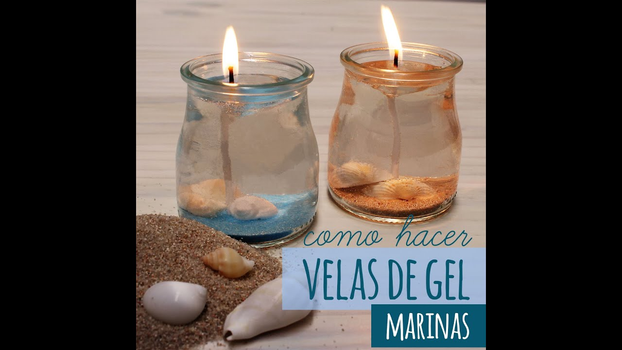 C mo hacer velas de gel marinas youtube for Decoracion del hogar con velas