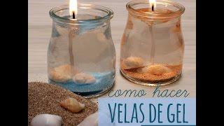 Cómo hacer velas de gel marinas