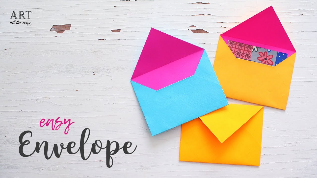 Diy Easy Paper Envelope Tutorial Craft Ideas Youtube