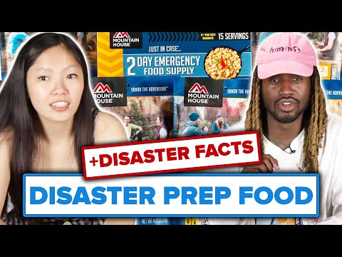 People Taste Test Emergency Meals