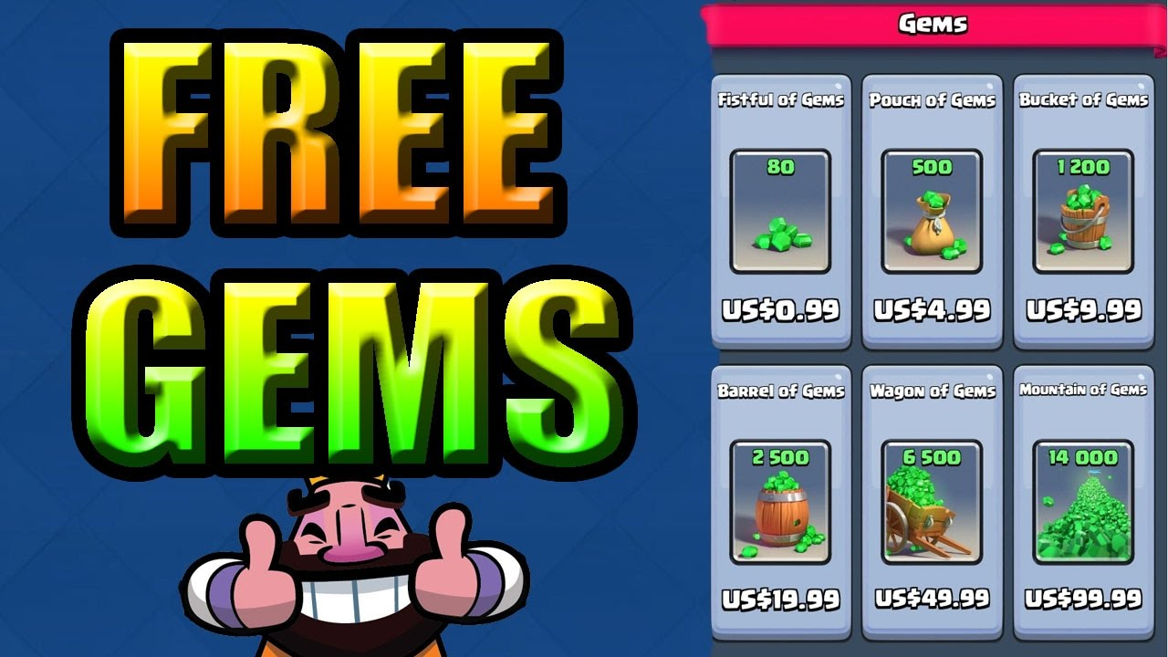 FREE GEMS IN CLASH ROYALE NO HACK NO JAIL BREAK! WORKS ON ...