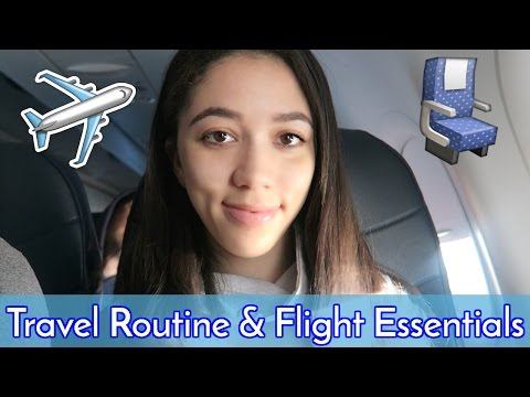 Travel Routine 2017 + Airport Outfit + In-Flight Essentials ✈︎ Celeste Angelica