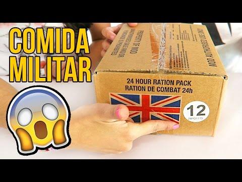 Probando COMIDA MILITAR de 4000 CALORÍAS!!!