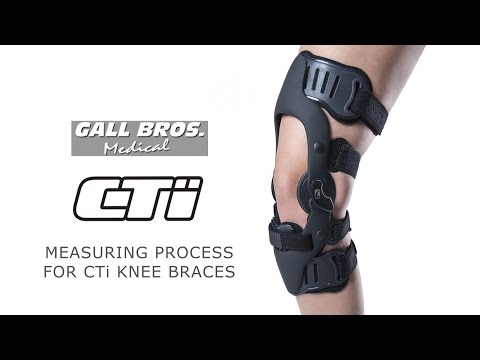 CTi CUSTOM KNEE BRACES: measuring process with Gall Bros Medical