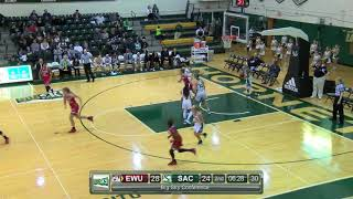 EWUWBB Highlights vs. Sac State (1/6/18)