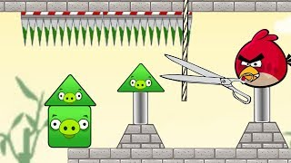 Angry Birds Piggies Out - THROW OUT ALL TRIANGLE PIGS GAMEPLAY!