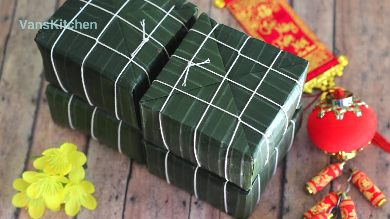 B 225 Nh Chưng Vietnamese Tết Square Sticky Rice Cake Youtube