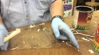 How To Stain Wood Two Different Colors - Making a richer looking finish