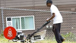 How One Man With a Siren Lawnmower Builds Community