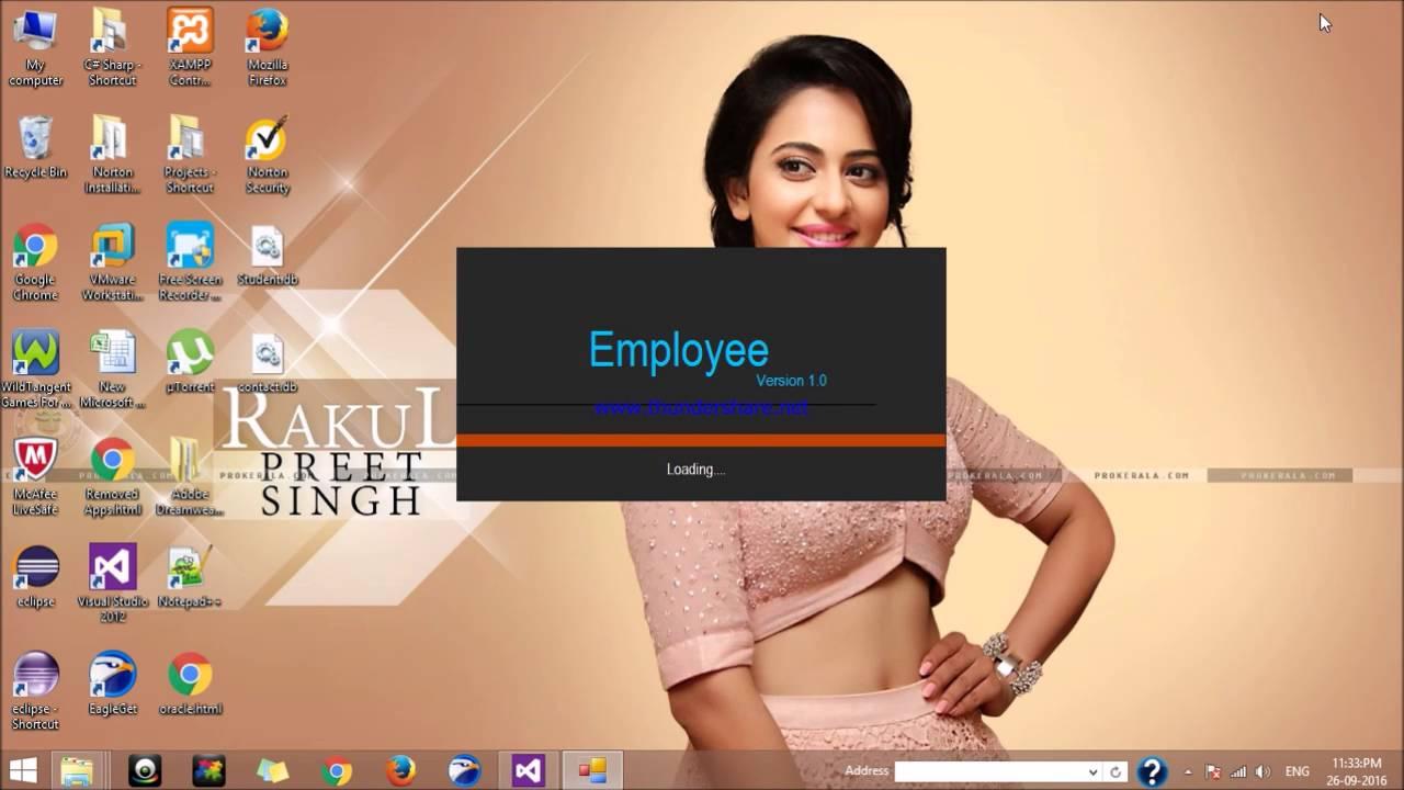 Splash Screen with login form design in c#