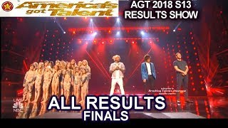 ALL Results and Winner AGT 2018 Finale | America's Got Talent Season 13 Finals