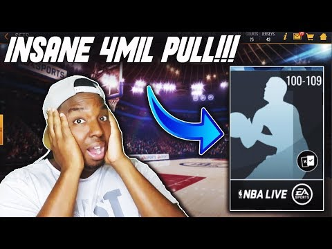 IM THE OFFICIAL PACK GOD!!! CRAZY 4 MILLION COIN PULL FROM THE WORST SET IN NBA LIVE MOBILE!!!