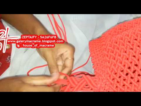 Tutorial Membuat Tas Tali Kur tali panjang langsung menempel ke badan tas by zeptaifyx