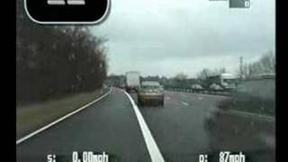 Police chase on Motorway