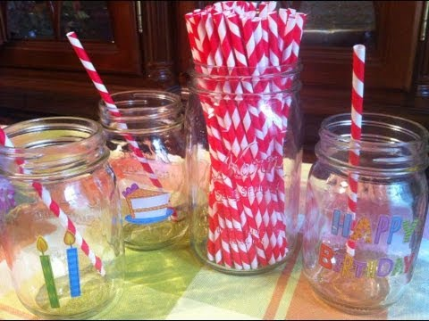 Diy Birthday Party Mason Jars
