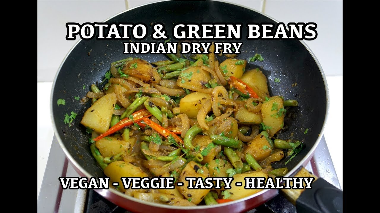 Potato aloo green beans indian dry fry recipe vegan youtube potato aloo green beans indian dry fry recipe vegan forumfinder Image collections