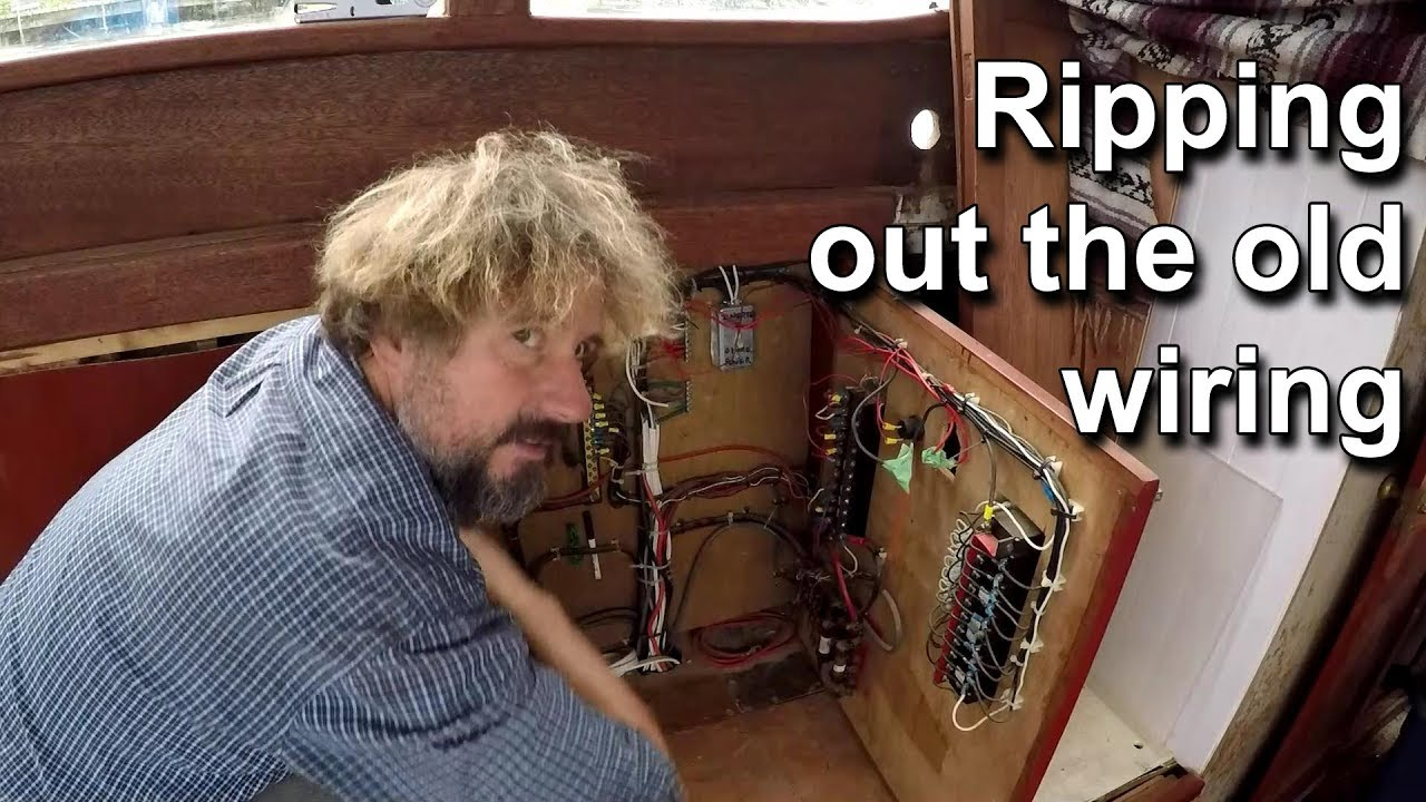 Wiring An Old Boat Online Schematics Diagram 96 Crownline Ripping Out The Wooden Restoration Refit Speedometer Not Working