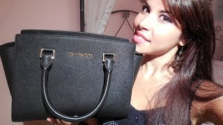 What's in my bag | Michael Kors Selma Medium | e mini review