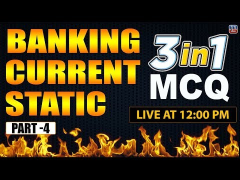 Banking | Current | Static | 3 in 1 | MCQ | Part 4 | General Awareness | 12:00 PM