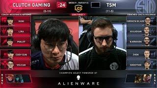 CG vs TSM - 2019 LCS Spring Split Week 9 Day 1 - Clutch Gaming vs Team SoloMid