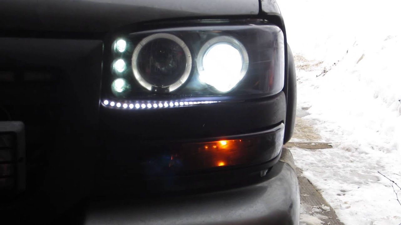1999-2006 gmc sierra smoked aftermarket headlights review ...