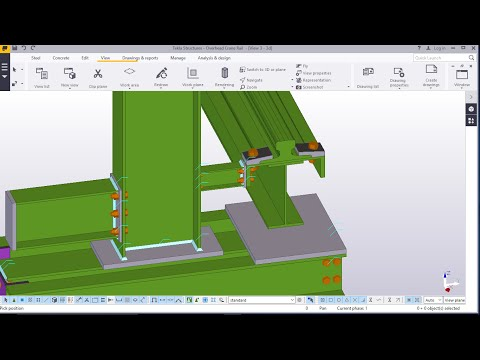 Overhead Crane Rail Structure Modelling in TEKLA STRUCTURES 2016
