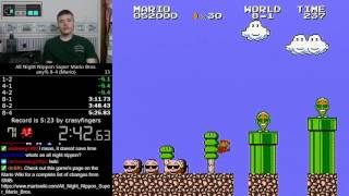 (5:13.80 w/out loads) Nippon Super Mario Bros. - any% 8-4 (Mario) speedrun *Former World Record*