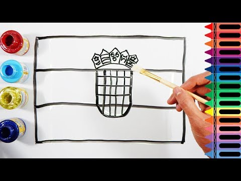 Learn Colors - How to Paint a Croatia Flag - Drawing a Croatian Flag | Tanimated Toys