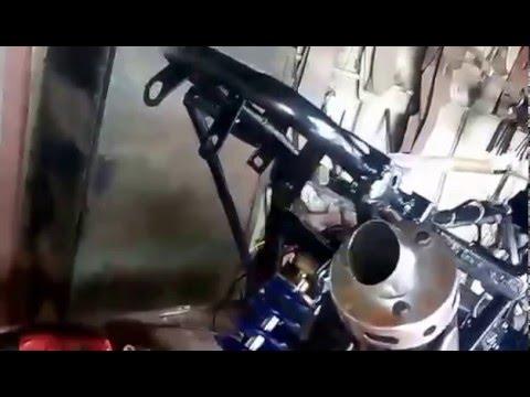 chinese atv custom exhaust youtube